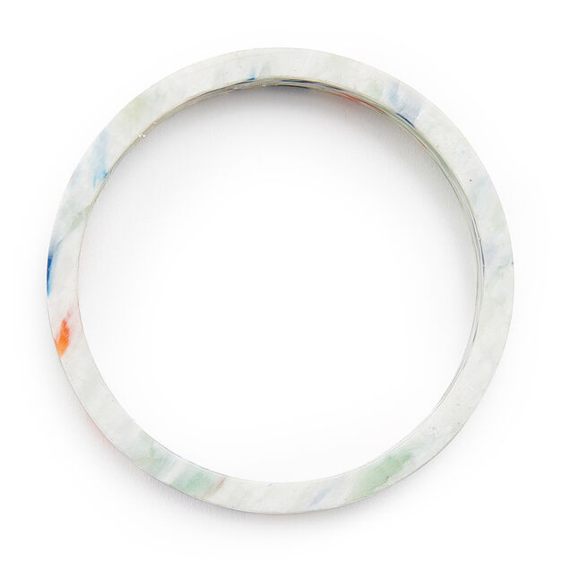 AYM Ingrid Recycled Plastic Bangle in color Confetti