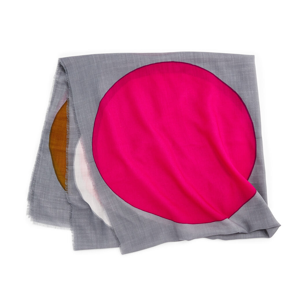 Dot Fine Wool Scarf in color Pink