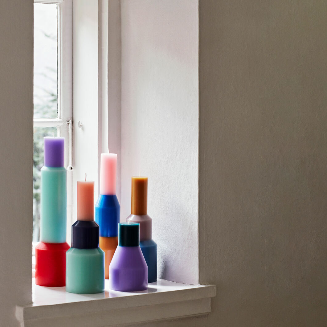 HAY Pillar Candle in color Red