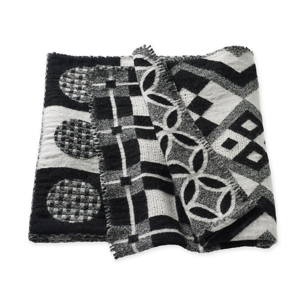 Checkerboard Patchwork Throw in color