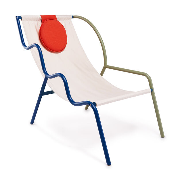 Ebba Chair in color Olive Green/ Midnight Indigo