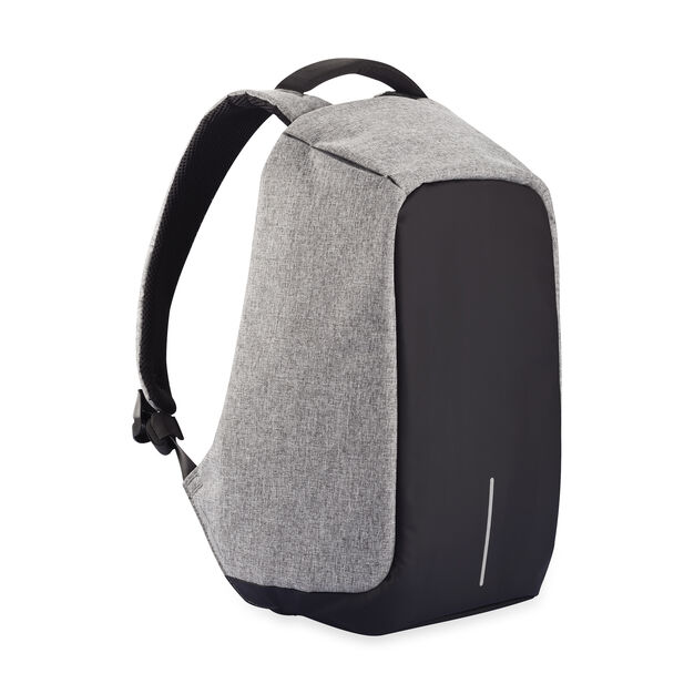 Bobby Anti-Theft Backpack in color Grey/ Black