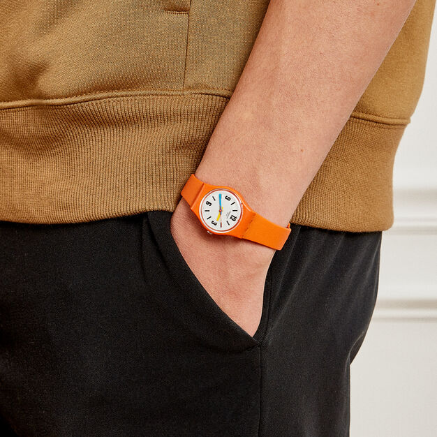 Swatch Essential Watch in color Orange