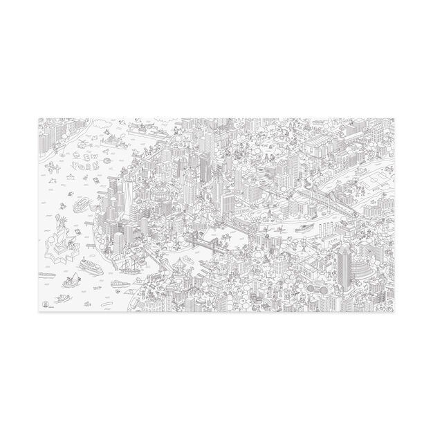 NYC Coloring Poster Giant NYC | MoMA Design Store