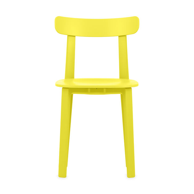 All Plastic Chair in color Buttercup