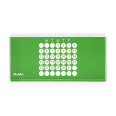Acrylic Perpetual Calendar in color Green