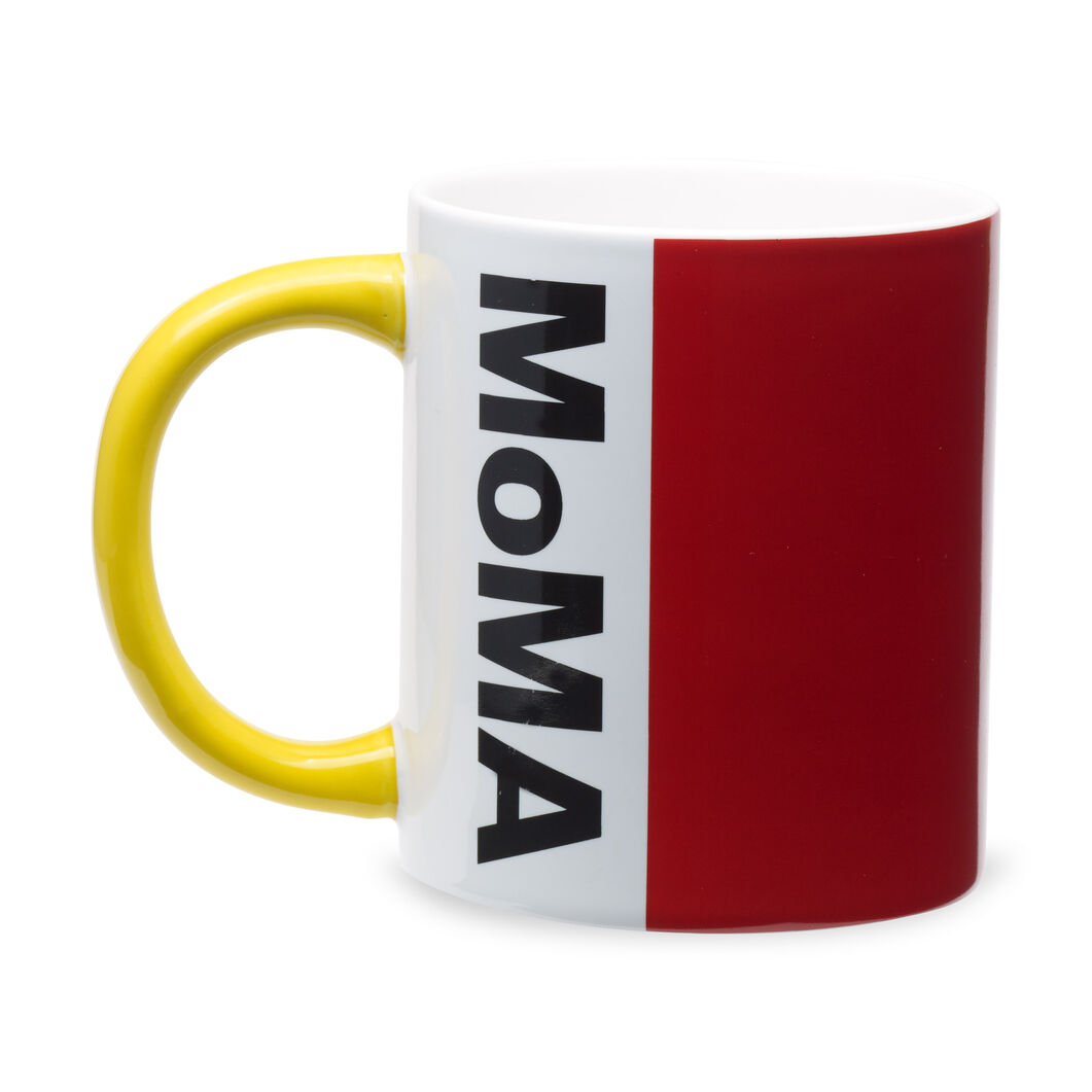 MoMA Logo Mug in color Red/ Yellow