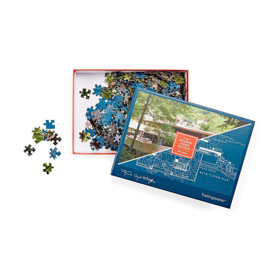 Frank Lloyd Wright Falling Water Puzzle in color