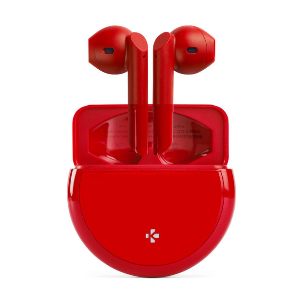 Mykronoz ZeBuds Pro with Wireless Charging Case in color Red
