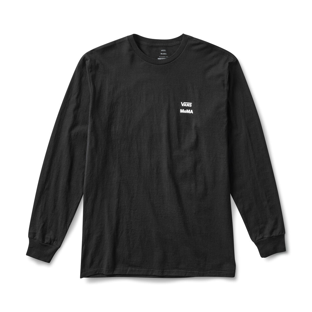 MoMA and Vans Long-Sleeve T-Shirt with Checkerboard Logo in color