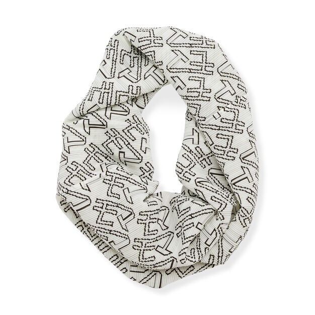PLEATS PLEASE ISSEY MIYAKE Oh-Tube for MoMA Scarf in color White