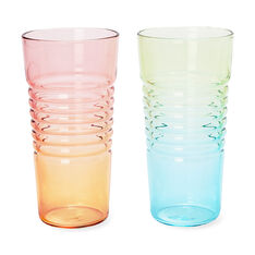 Ombré Milk Glasses in color