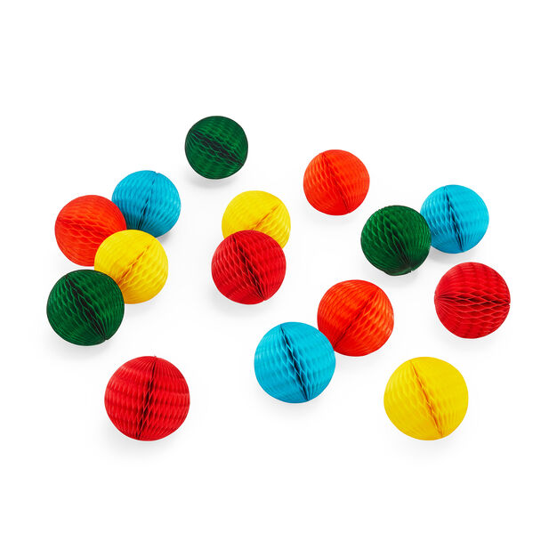 Honeycomb Balls Mini Holiday Ornament Set in color