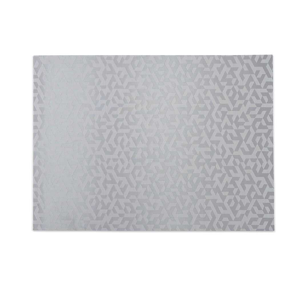 Chilewich Prism Floormat in color Silver