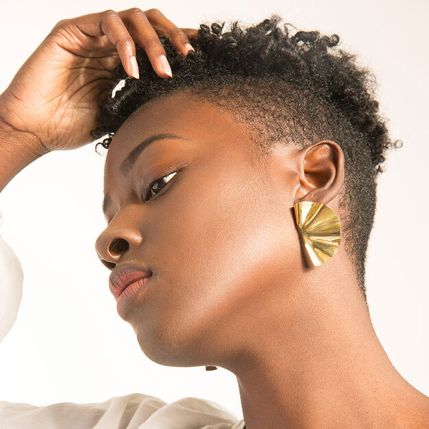 Soko Brass Fan Earrings in color