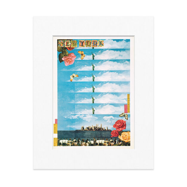 Yokoo: New York Matted Print in color