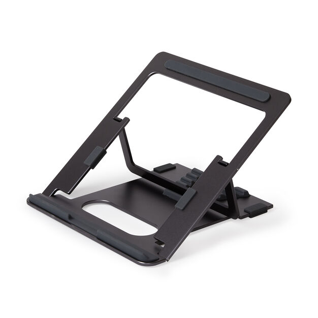 Pout Aluminum Adjustable Laptop Stand in color Gray