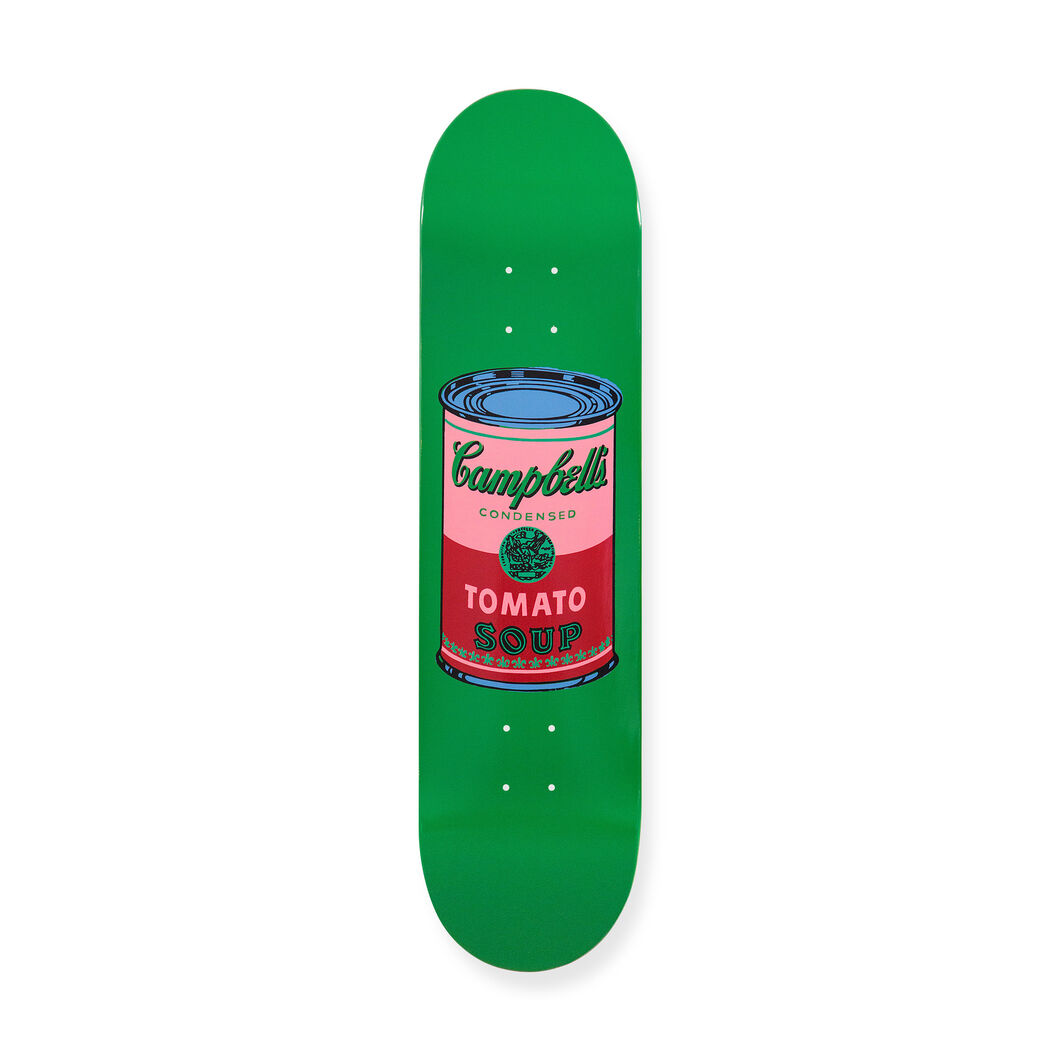 Andy Warhol: Skateboard Colored Campbell's Soup Cans Blood in color Blood