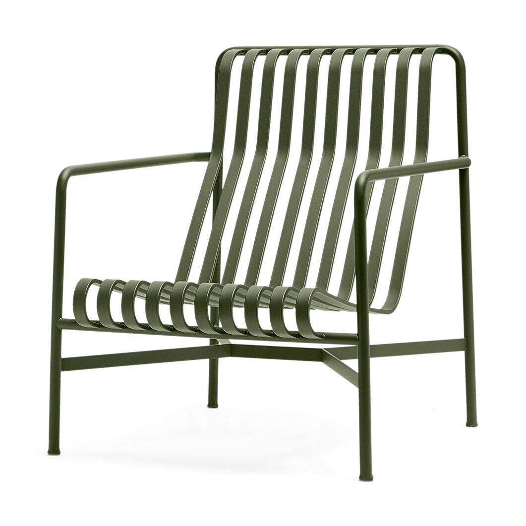 HAY Palissade Outdoor Lounge Chair High in color Green