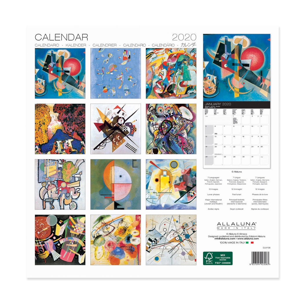 2020 Kandinsky Wall Calendar in color