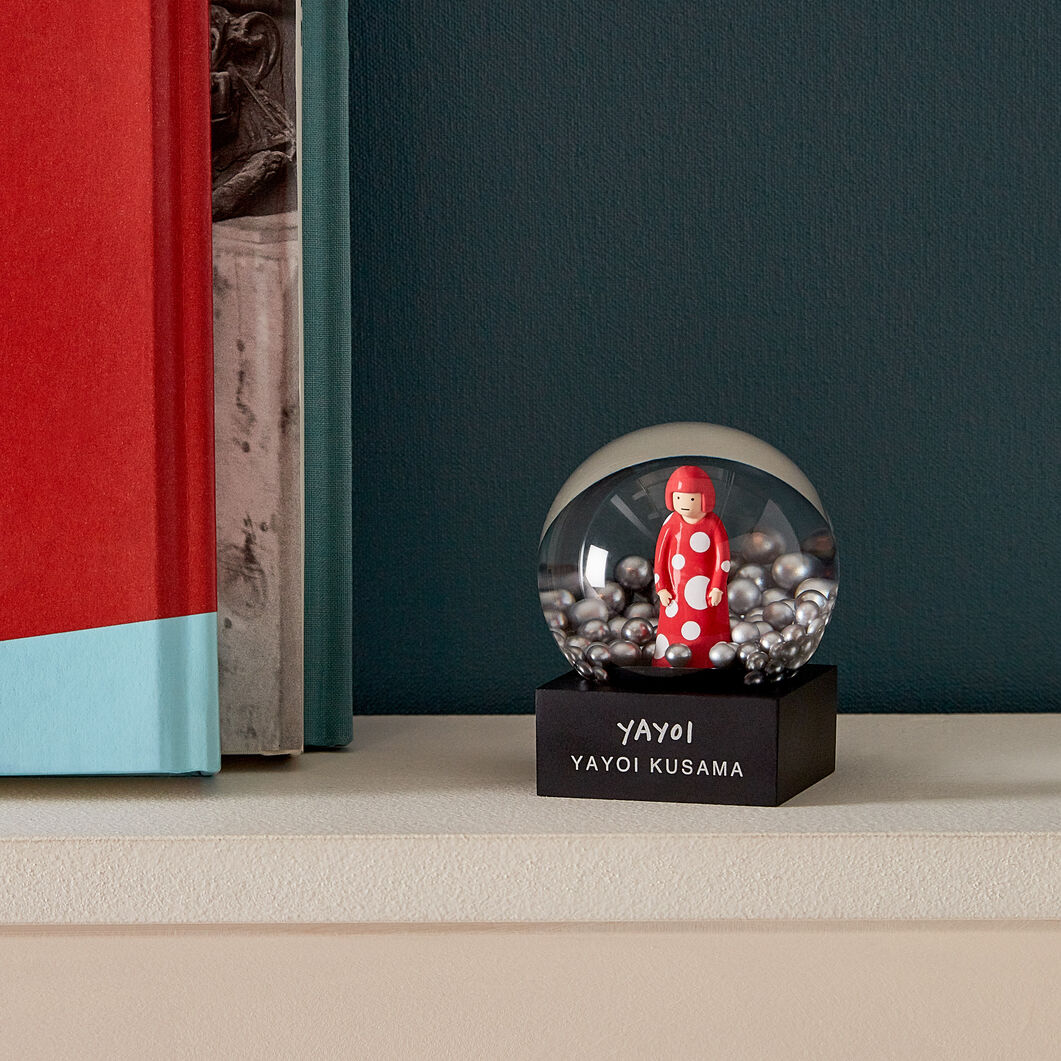 Kusama Snowglobes in color Red