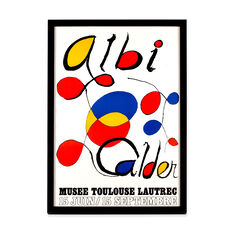 Alexander Calder: Musee Tolouse Lautrec Framed Poster in color