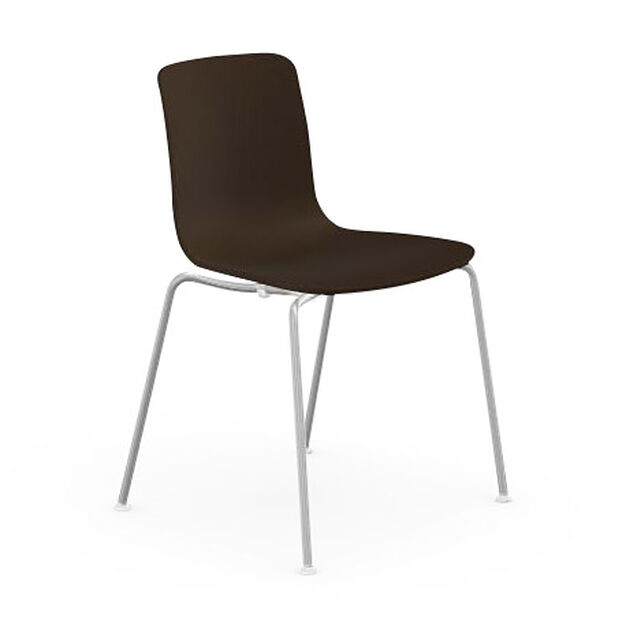 HAL Stackable Tube Chair in color Chocolate