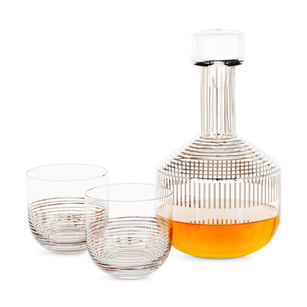 Tom Dixon Tank Striped Whiskey Set in color