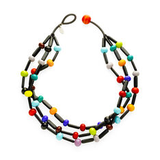 Maasai Multicolor Glass Necklace in color