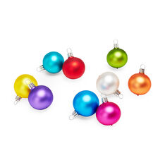 Small Matte Rainbow Holiday Ornament Set in color