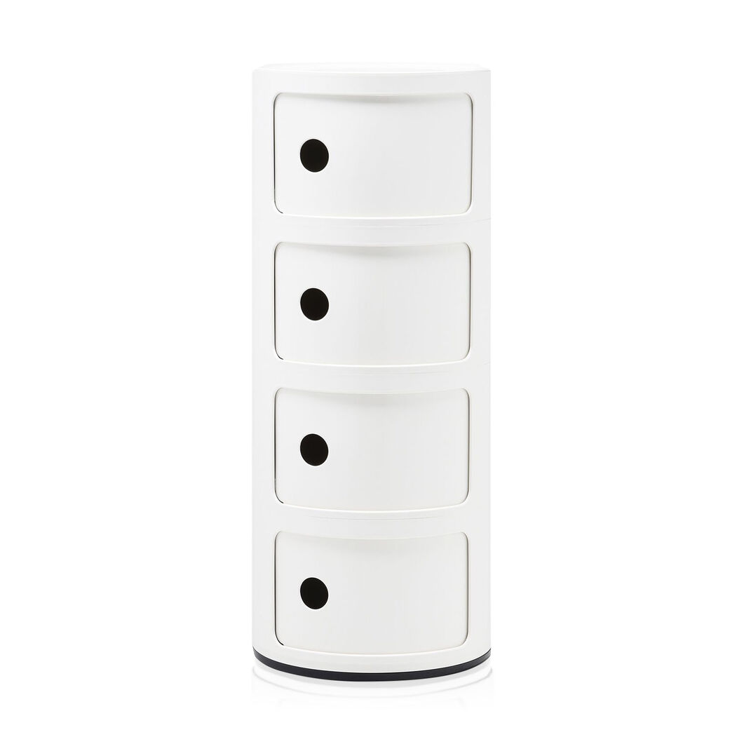 Kartell Componibili 4 Tier Storage in color White
