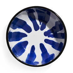 Striped Enamel Bowl in color Blue
