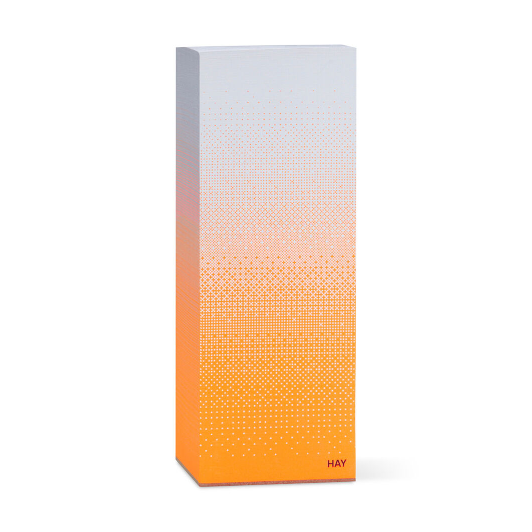 Hay Tower Block Notepad Fade Orange in color Orange