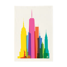 NYC City Shapes Tea Towel in color