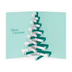 Modern Tree Holiday Cards - Set of 8 in color