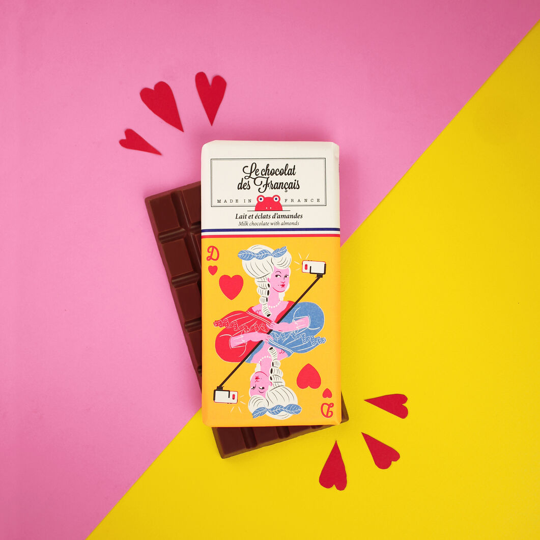 Le chocolat des Français Chocolate Bar - Marie-Antoinette in color