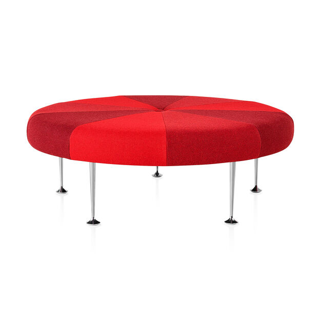Girard Color Wheel Braniff Ottoman from Herman Miller© in color Red