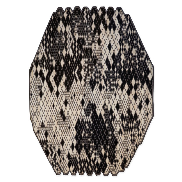 Nanimarquina Losanges Rug Black in color Black