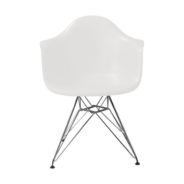 Eames® Molded Plastic Armchair with Wire Base (DAR) from Herman Miller© in color White