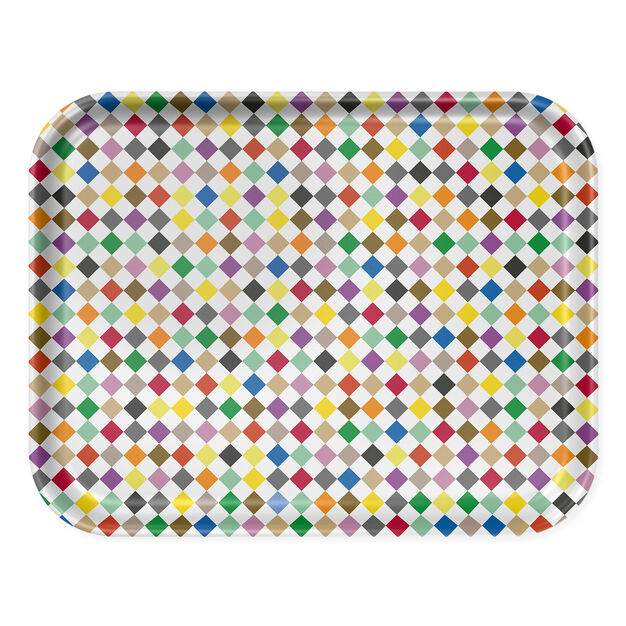 Alexander Girard Diamonds Tray in color Multi