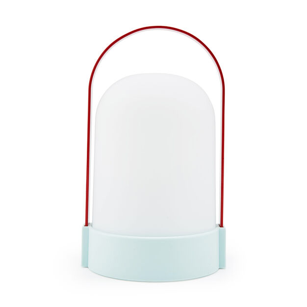 URI Portable Outdoor Table Lamp in color Blue/ Red
