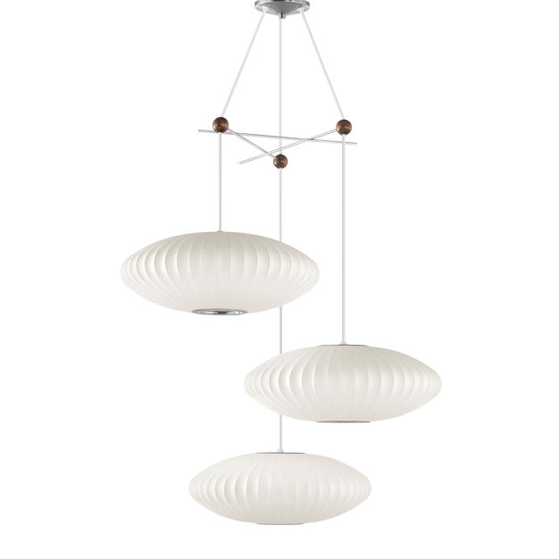 Nelson™ Triple Bubble Lamp Fixture in color