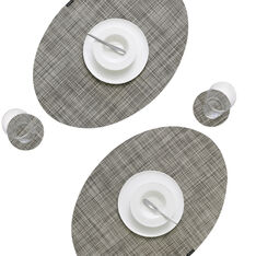OnEdge Placemat Set in color Gravel