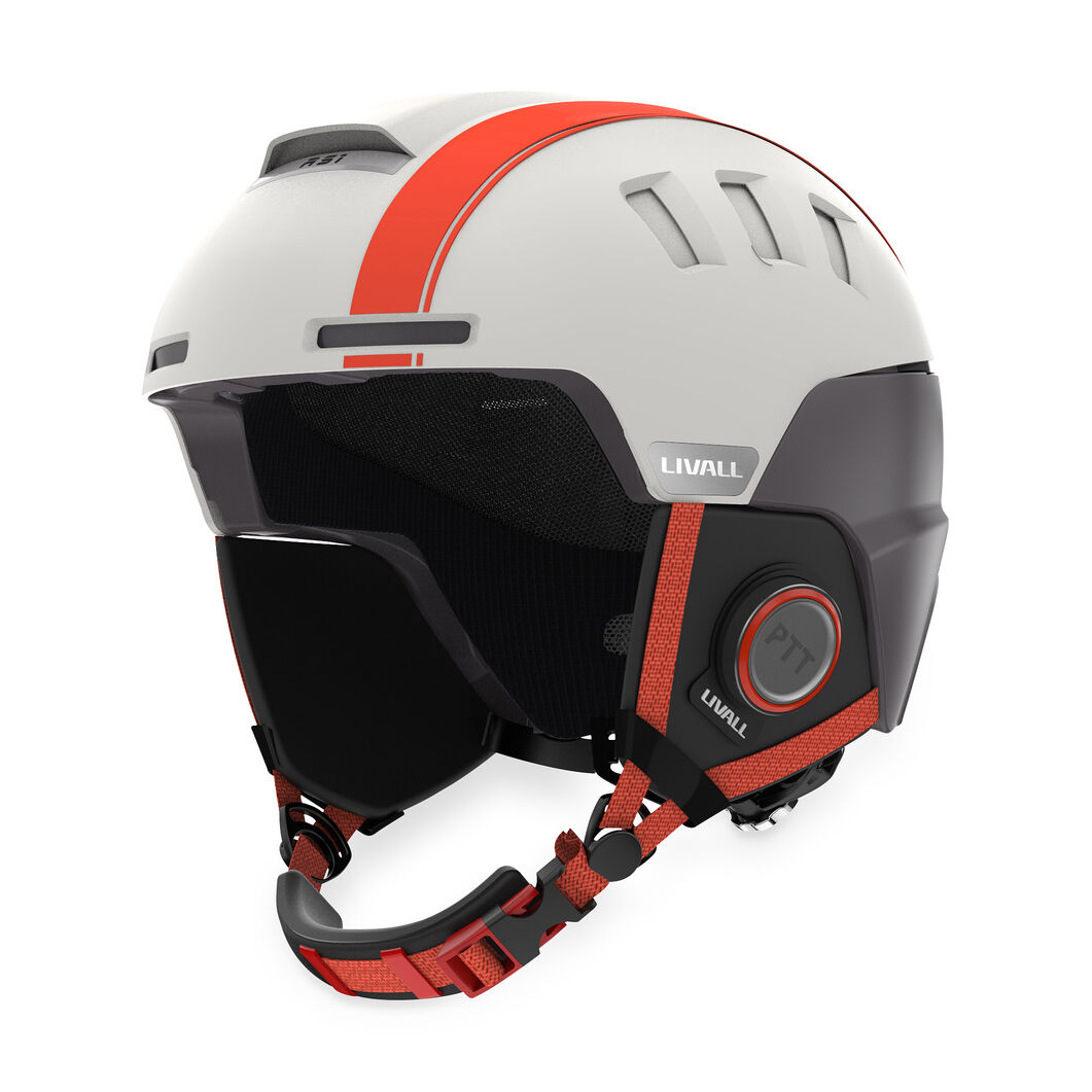 Livall Smart Skiing Helmet in color White