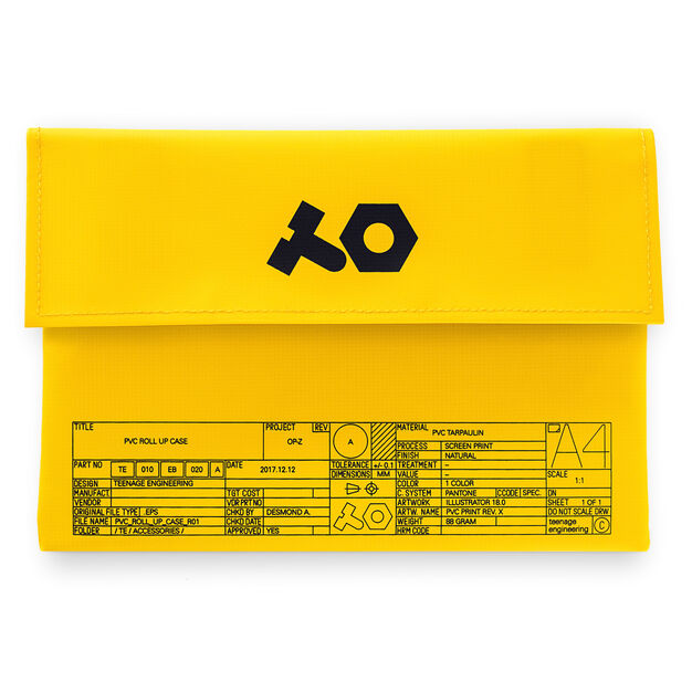 Travel Pouch for OP-Z Synthesizer in color Yellow