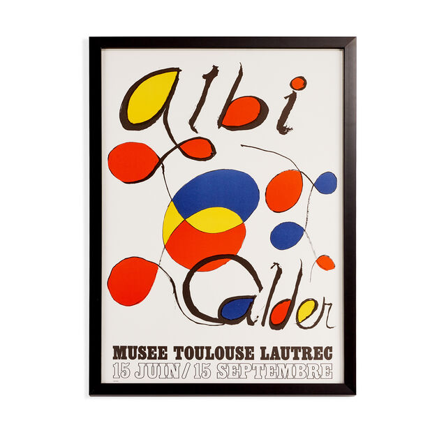 Alexander Calder: Albi Framed Poster in color