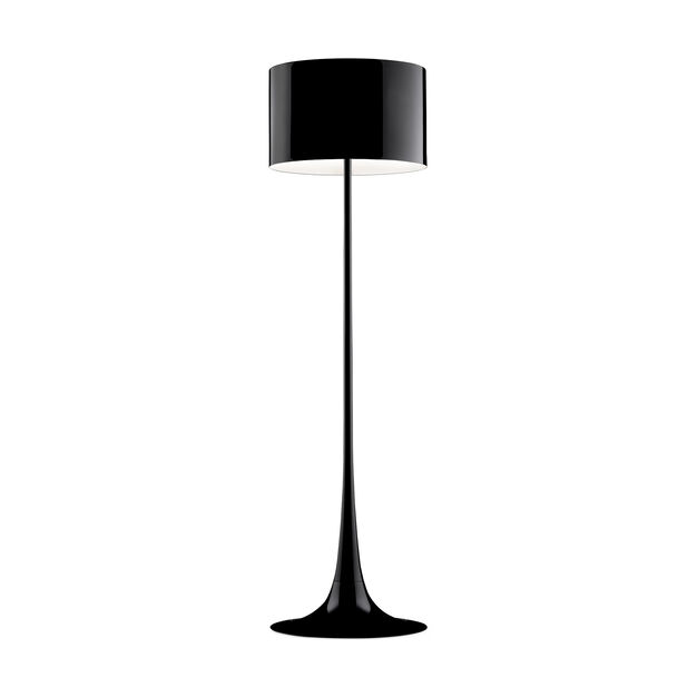 Spun Floor Lamp Black in color