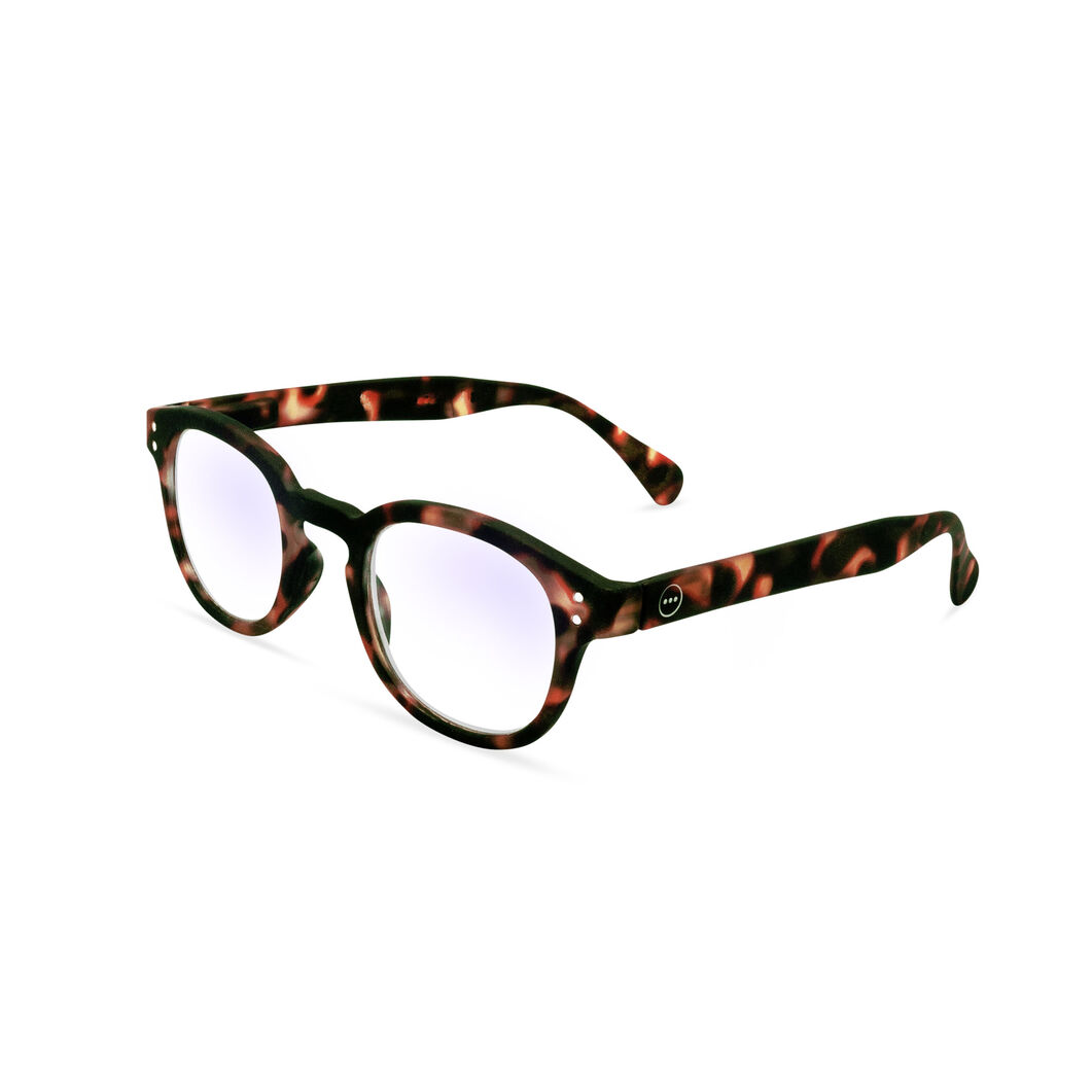 IZIPIZI Rounded-Edge Square Screen Glasses #C in color Tortoise