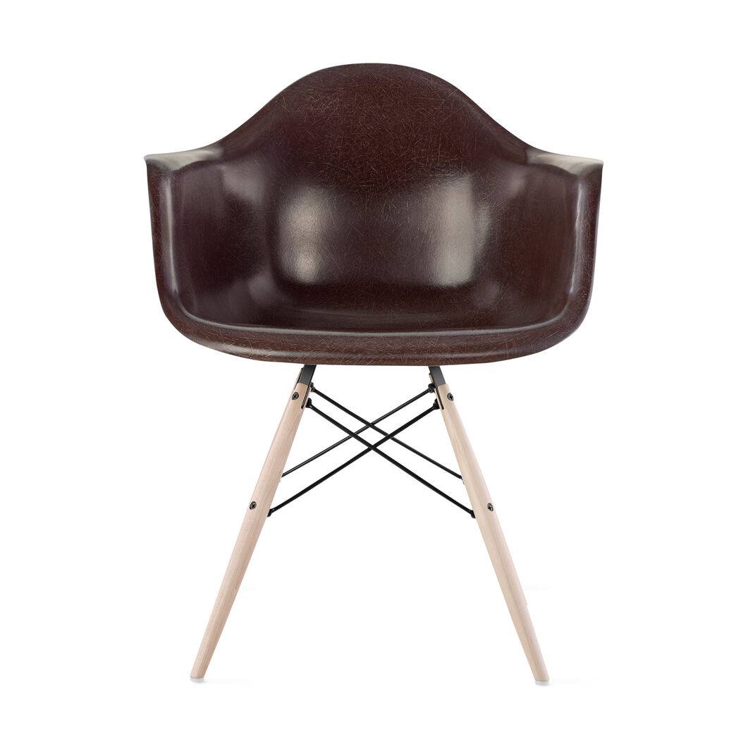 Eames DFAW Armchair  Seal Brown in color