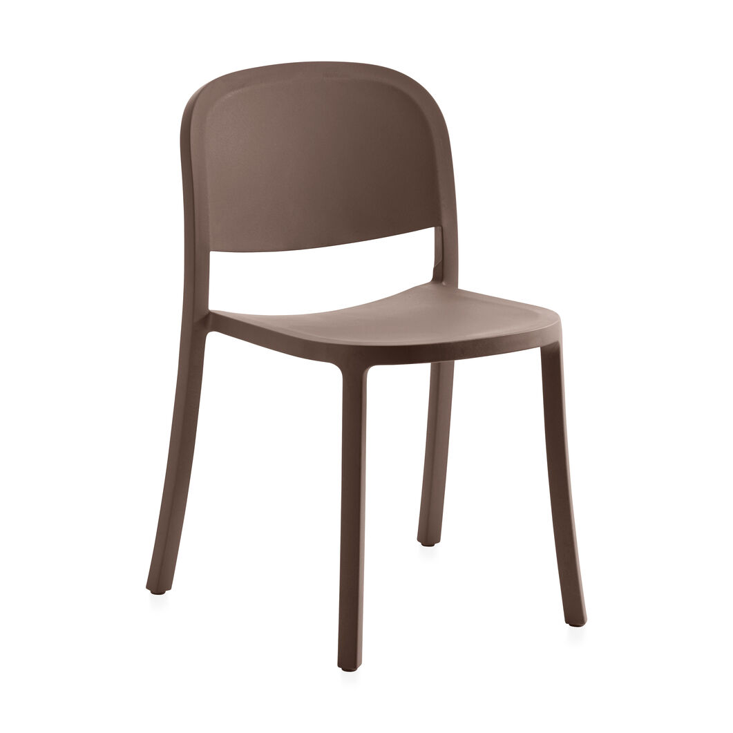 Emeco 1 Inch Reclaimed Stacking Chair in color Brown